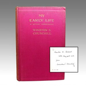 My Early Life - Winston Churchill - cover and signature view