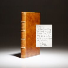 Limited edition of 1976: Agenda for Tomorrow by Stewart Udall, inscribed to his Chief of Staff, Henry L. Kimelman.