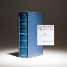 Limited edition of The Path to Power by Margaret Thatcher, in leather and slipcase.
