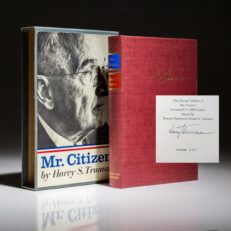 Mr Citizen by President Harry Truman. A signed limited edition.