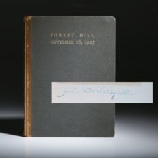 A Visit to Mr. John D. Rockefeller by Neighbors and Friends at Forest Hill Cleveland Ohio. A signed limited editiion copy.