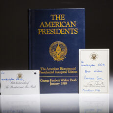 The American President, limited edition, signed by President George Bush.