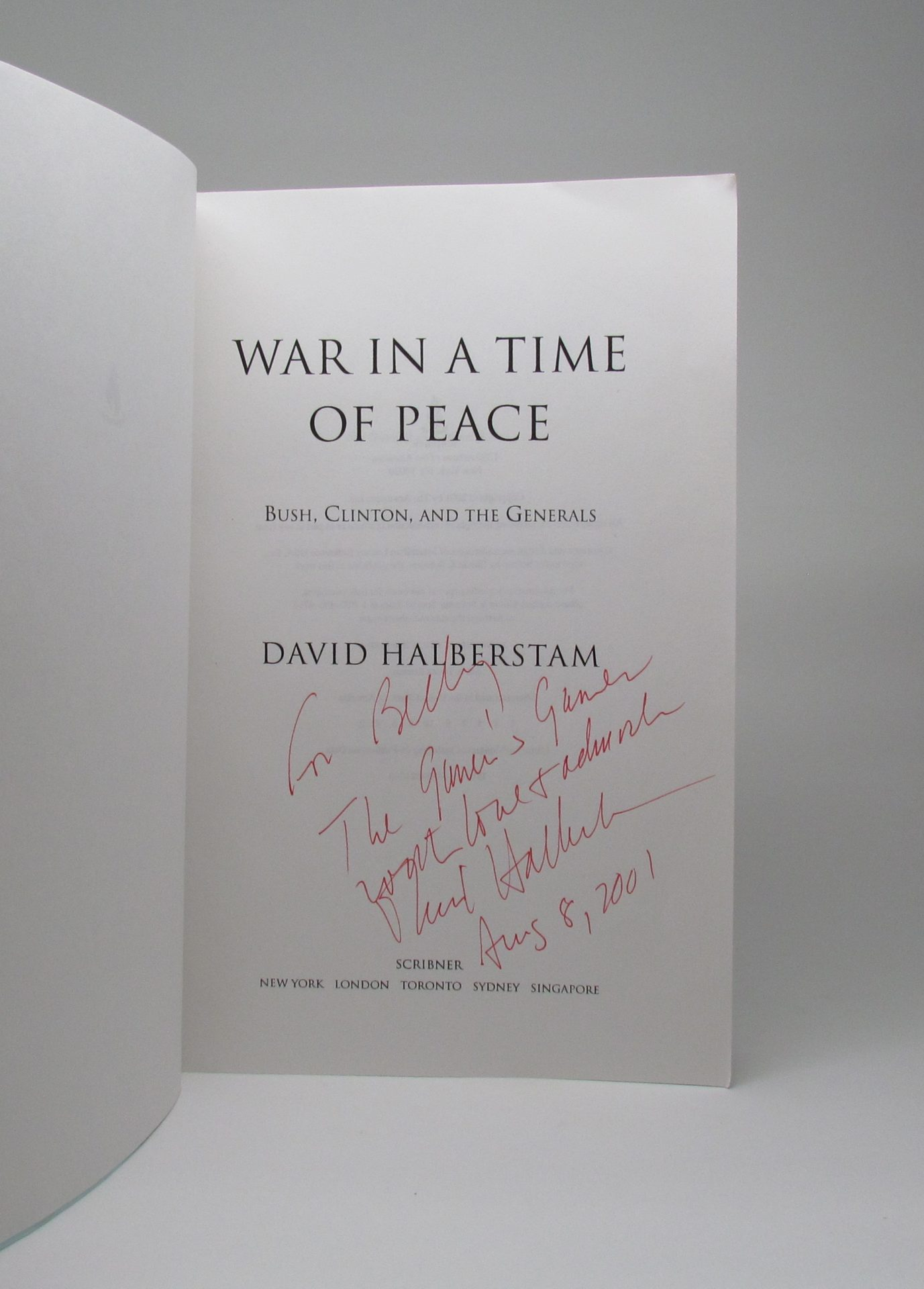 """war in a time of peace bush clinton and the generals essay It was an unusual moment in the history of the presidency, and the experience of   is it going to be a combination of all of this: peace and prosperity  the camp  david accords, under carter, and the gulf war, under bush  an obama  administration official told me, """"the first year of clinton's second term."""