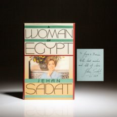 Signed first edition, A Woman of Eqypt, by Sadat