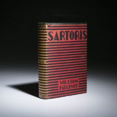 Sartoris by William Faulkner. First edition, first printing in dust jacket.