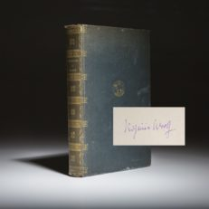 Orlando by Virginia Woolf. Signed limited edition copy.