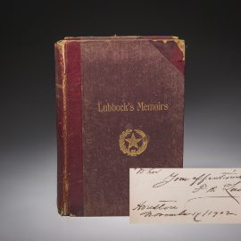 Six Decades in Texas, inscribed by Francis Lubbock.