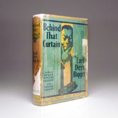 First edition of Behind That Curtain by Earl Derr Biggers, in scarce dust jacket.