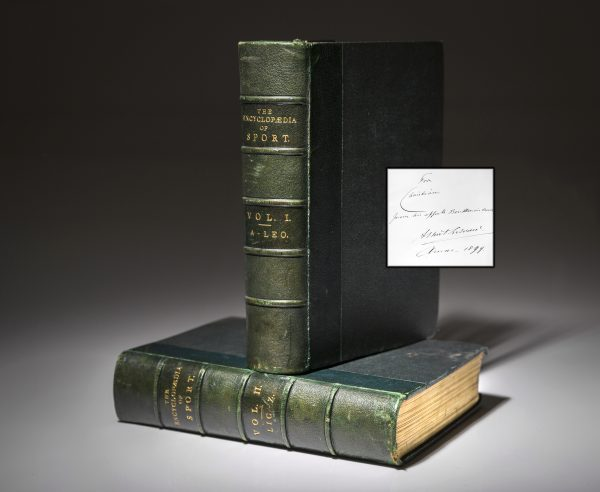 First edition of The Encyclopaedia of Sport, signed by King Edward VII.