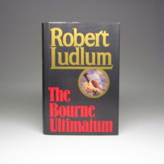 First edition of The Bourne Ultimatum by Robert Ludlum, in first issue dust jacket.