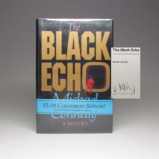 Signed first edition of The Black Echo by Michael Connelly, in fine first state dust jacket