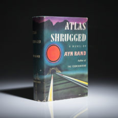 Atlas Shurgged by Ayn Rand. First edition, first printing in near fine dust jacket.