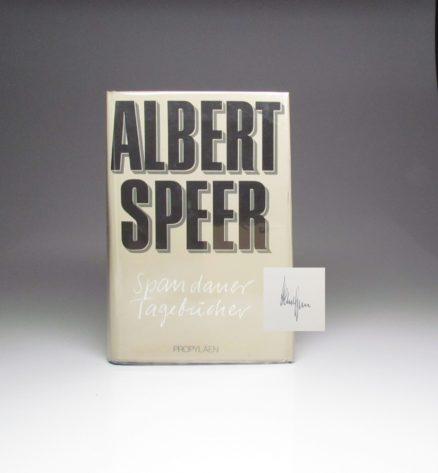 Spandauer Tagebucher, signed by author Albert Speer.