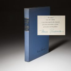 a limited edition advance set of On My Own, signed by the author Eleanor Roosevelt.