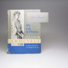 A signed first edition of Her Life in Pictures by Eleanor Roosevelt.