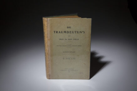 First edition copy of Die Traumdeutung, or the Interpretation of Dreams.