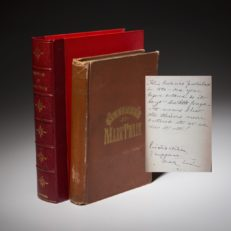 A Pirated edition of Sketches by Mark Twain, inscribed by the author, last owned by actor and comedian Robin Williams.