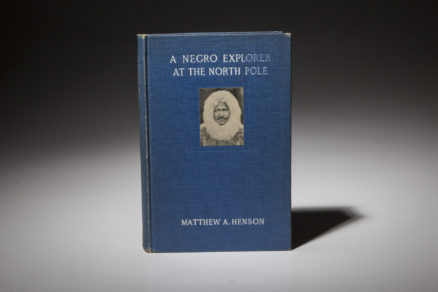 A first edition copy of A Negro Explorer at the North Pole by Matthew Henson.