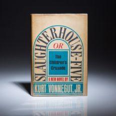 A first edition of Slaughterhouse-Five, one of Kurt Vonnegut's most popular books.