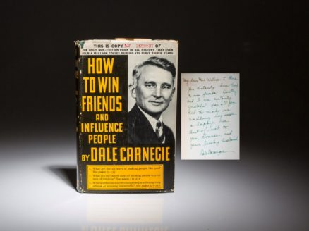 A signed edition of How to Win Friends and Influence People.