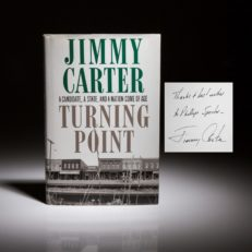 A signed first edition copy of Turning Point, inscribed to Phil Spector.