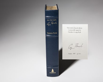 A signed limited edition copy of All the Best, by George HW Bush.