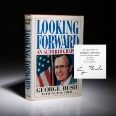A special limited edition copy of Looking Forward, by George H.W. Bush.