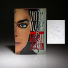 A signed first edition copy of Moonwalk, by Michael Jackson.