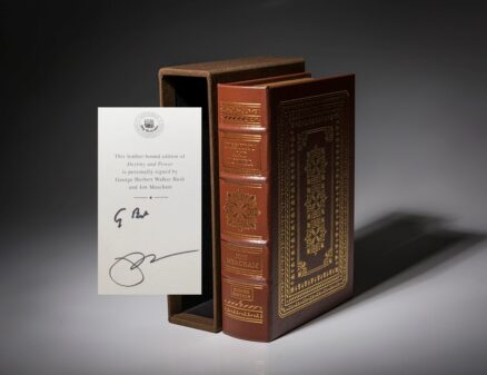 A limited edition copy of Destiny and Power, The American Odyssey of George Herbert Walker Bush. His last signed publication.