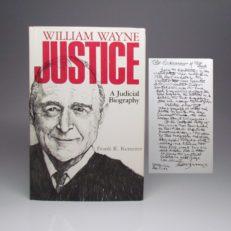 Signed book Senator Ralph Yarborough by William Wayne Justice.