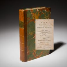 A first edition copy of A View of the Conduct of the Executive of the United States by James Monroe.