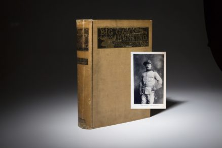 Big Game Hunting by Theodore Roosevelt. Signed limited edition copy.