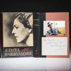Memories by Ethel Barrymore. A fine first edition, inscribed by the author to Frank Sinatra.