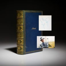 The Prairie Years and the War Years, inscribed by author to Frank Sinatra.
