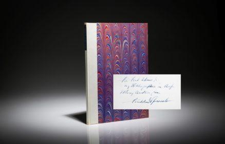 Inaugural Address of Franklin D. Roosevelt. Signed limited edition. Halter 193.