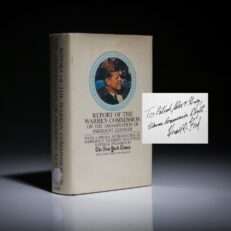 Report on the Warren Commision with inscription from Gerald R. Ford. A fine copy.