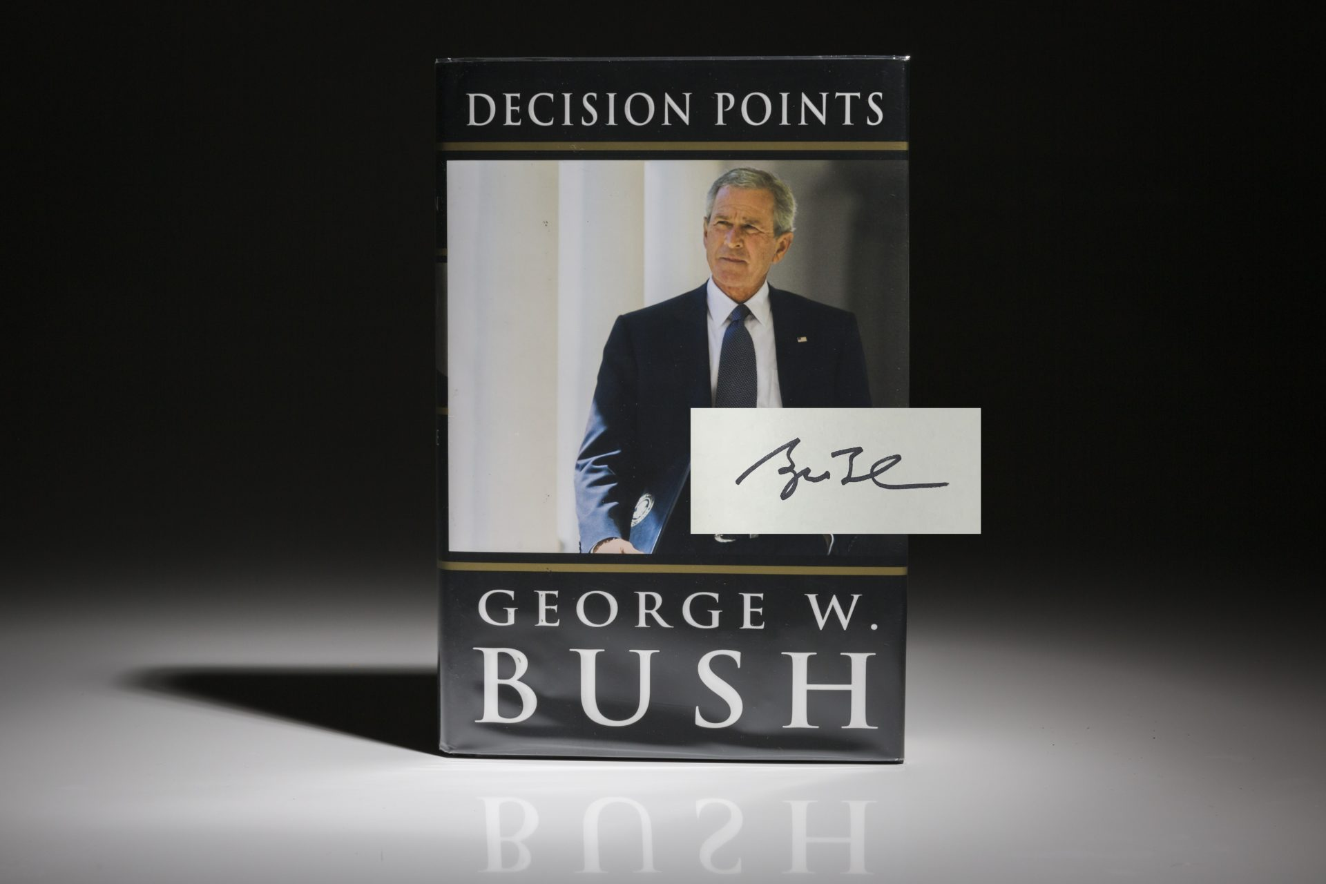 Decision Points by George Bush, signed first edition, first printing.