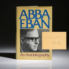 An Autobiography by Abba Eban, signed first edition.