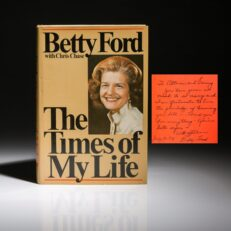 Betty Ford, The Times of My Life, inscribed by Betty Ford to Sammy Davis Jr.