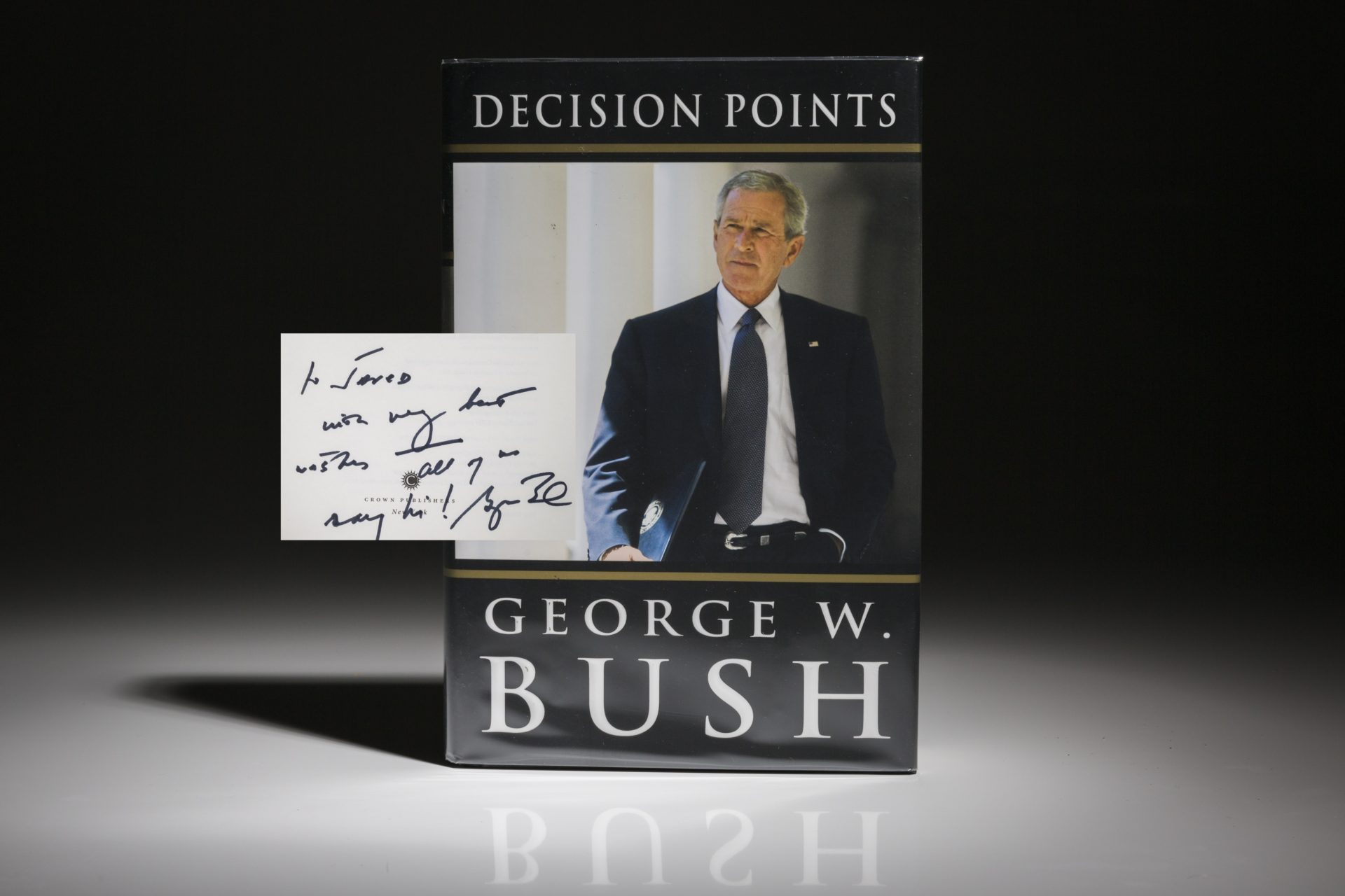 Decision Points by President George W. Bush, signed first edition, first printing.