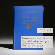 First edition of Little America by Byrd, inscribed copy.
