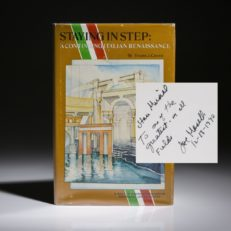 Book inscribed to baseball great Stan Musial.