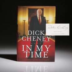 In My Time by Vice President Dick Cheney, signed first edition, first printing.