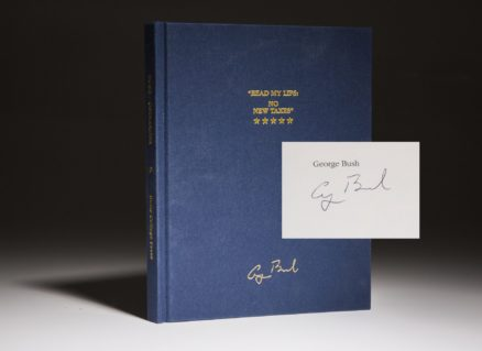 Read My Lips by President George H.W. Bush. Signed limited edition copy by Dan Ostrander.