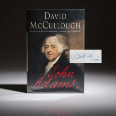 John Adams by David McCullough, signed first edition, first printing.