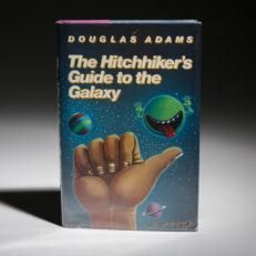 The Hitchhikers Guide to the Galaxy by Douglas Adams, first edition.