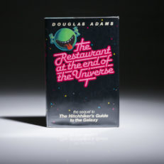 The Restaurant at the end of the Universe, first edition by Douglas Adams.