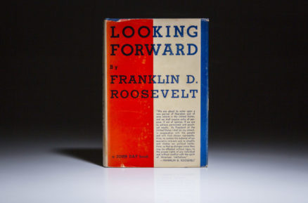 First edition of Looking Forward by President Franklin Roosevelt, fine condition.