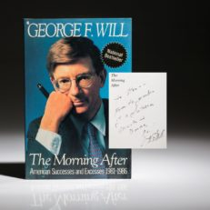 The morning after by George Will, inscribed to Stan Musial.