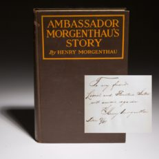 A scarce signed copy of Ambassador Morgenthau's Story by Henry Morgenthau.
